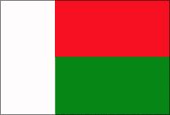 La bande horizontale rouge représente les Mérinas, l'ethnie