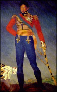Le roi Radama premier. A reigné de 1810 à 1828. Royaumes Malgaches.
