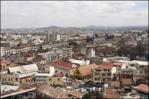 Une vue de Tana avec l'avenue de l'Indépendance.