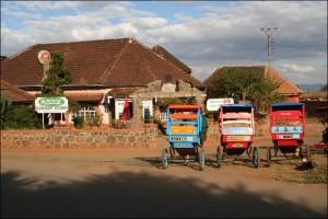 """Le sympathique petit hôtel restaurant """"Chez Jenny"""" à Antsirabe."""