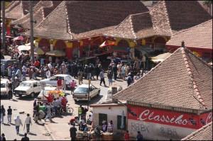 Les pavillons réservés à la boucherie au marché d'Analakely.