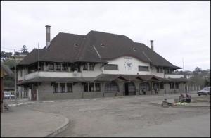 La gare de Fianarantsoa d'ou part le FCE pour descendre à Manakara sur la côte Est.