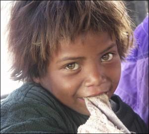 Enfant Merina de la région Vakinankaratra à Antsirabe.
