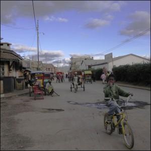 Une rue d'Antsirabe.