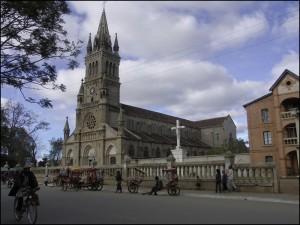 La splendide cathédrale d'Antsirabe.
