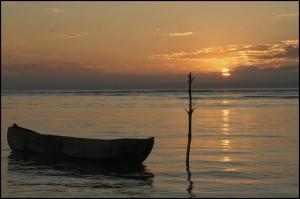 Coucher de soleil à l'ile de Sainte Marie.
