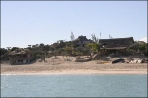 Mon hébergement : le Bivouac Lalandaka, les pieds dans l'eau à Anakao.