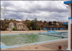 La piscine d'eau chaude à Antsirabe.