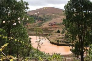 La rivière Katsoaka qui borde le Lemurs'Park.