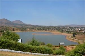 Le lac Tatamarina situé en bordure de la ville de Betafo.