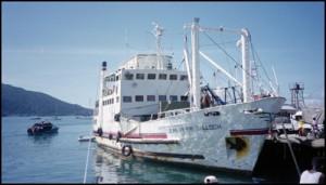 Le Jean Pierre Calloch à quai à Nosy Be avant la traversée pour Majunga.