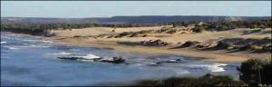 La côte à Lavanono.