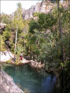 La piscine naturelle dans le parc de l'Isalo.