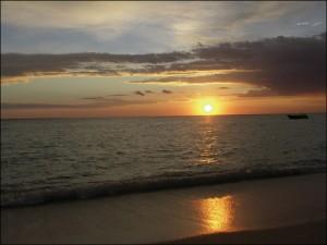 Souvenir.... coucher de soleil à Anakao..!