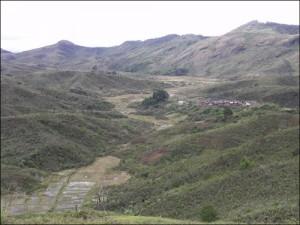 Paysage du Pays Zafimaniry. Madagascar du nord au sud.