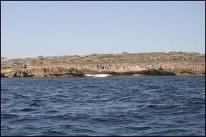 La côte côté sud de la Baie des Assassins est rocheuse et très découpée.