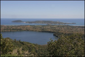 Vue sur les lacs du sommet du Mont Passot.