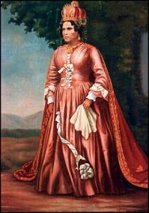 La reine Ranavalona 1. Royaumes Malgaches.