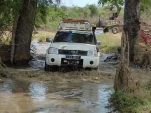 on retrouve plusieurs gués sur ce raid 4x4 Madagascar.