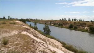 Les parties du canal des Pangalanes creusées par l'homme tranchent avec les traversées de lacs et étangs.