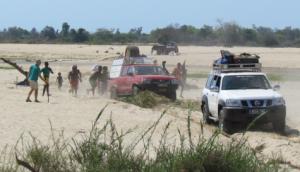 Le sable est très présent sur la côte Ouest pur ce raid 4x4 Madagascar.