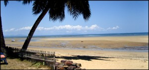 Une plage à Nosy Be. Nord Madagascar.